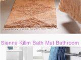 Water Absorbent Bathroom Rugs Sienna Kilim Bath Mat Bathroom Rug Mat Ultra soft and Water