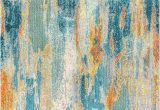 Wayfair Blue and Yellow Rug Lasley Power Loom Blue Cream Yellow Rug