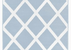 Wayfair Rugs Blue and White Lightweight Reversible Diamond Light Blue White Indoor Outdoor area Rug