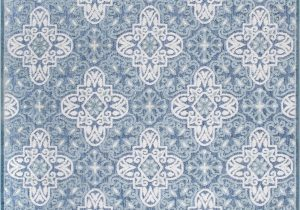 Wayfair Rugs Blue and White Raeburn Power Loom Blue White Indoor Outdoor Use Rug