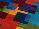 Weisman Red Blue area Rug Lashley Hand Tufted Wool Multicolor area Rug