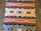 Western Bathroom Rug Sets Brown Aztec Rug Tribal Rug southwestern Throw Rug Kilim