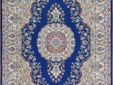 White and Blue oriental Rugs Blue Persian Rug oriental Turkish Carpet Silk Rug Tabriz