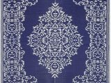 White and Blue oriental Rugs Lightweight Indoor Outdoor Reversible Plastic area Rug 5 9 X 8 9 Feet Medallion oriental Design Blue White