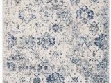 White and Blue oriental Rugs Ophelia & Co Macy oriental White Royal Blue area Rug