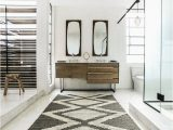 White Bath Rug Runner southwestern Bathroom Rugs with Scandinavian Bathroom and