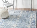 White Rug with Blue A Fabulous Blue and White Rug From One Of Rugs Usas New