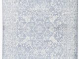 White Rug with Blue Pattern Lumineer Floral Blue White area Rug Simple Carpets Blue