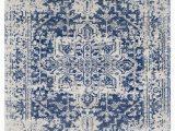 White Rug with Blue Pattern Prisha Rug White and Blue Lulu Georgia Blue and White