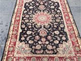 Wool and Silk Blend area Rugs Gh Frith oriental Wool Silk Blend area Rug 2 44m X 1 52m