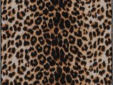 """Wool Animal Print area Rugs Brumlow Mills Animal Print area Rug for Living Room Dining Room Kitchen Bedroom and Contemporary Home Décor 3 4"""" X 5 Leopard"""