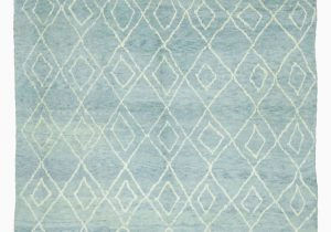 """Wool area Rugs Blue Blue New Contemporary Hand Knotted Wool area Rug 9 X 13 7"""" 108 In X 163 In"""