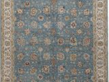 """Wool area Rugs Blue E Of A Kind Avalon Hand Knotted Blue Gold 6 X 9 7"""" Wool area Rug"""