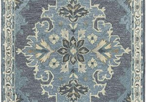 Wool area Rugs Blue Rizzy Home Resonant Collection Wool area Rug 10 X 13 Dark Gray Blue Gray Gray Blue Natural Ivory Central Medallion