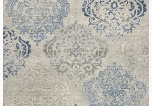 Wool area Rugs Blue Thora Floral Wool Light Gray Blue area Rug