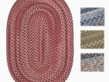 Wool area Rugs Made In Usa Shop Wool Spacedye Braided Reversible Rug Usa Made 5 X