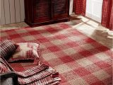 Wool or Cotton area Rugs Breckenridge Rustic Country Farmhouse Red Plaid area Rug