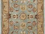 """Wool or Cotton area Rugs Safavieh Heritage Collection Handcrafted Traditional oriental Blue and Gold Wool area Rug 2 3"""" X 4"""