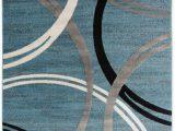 World Rug Gallery Modern Circles area Rug Blue area World Rug Gallery toscana Modern Abstract Circles