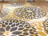 """World Rug Gallery Modern Circles area Rug Modern Floral Circles Design area Rugs 7 6"""" X 9 5"""" Yellow"""