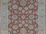 Yadira Tufted Wool area Rug oriental Hand Knotted Wool Rust Green area Rug