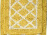 Yellow and Grey Bath Rug Amazon Com Yellow and White Lattice Bath Rug Set Kitchen