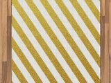 Yellow and White Striped area Rug Amazon Lunarable Striped area Rug Diagonal Bold Lines
