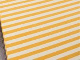 Yellow and White Striped area Rug Halliday Striped Yellow White Indoor Outdoor area Rug