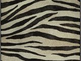 "Zebra Print area Rug 8×10 Brumlow Mills Animal Stripes Print area Rug for Living Room Dining Room Kitchen Bedroom and Contemporary Home Décor 3 4"" X 5 Zebra"
