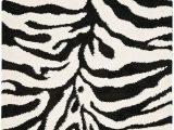 Zebra Print area Rug 8×10 Safavieh Zebra Shag Collection Sg452 1290 Ivory and Black