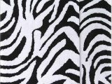 Zebra Print Bath Rug Chesapeake 2 Piece Zebra 21 Inch by 34 Inch and 24 Inch by 40 Inch Bath Rug Set Black and White