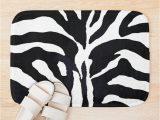 Zebra Print Bath Rug Zebra Print