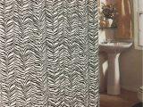 Zebra Print Bath Rugs Black Zebra Print 15 Piece Jacquard Bathroom Set 2 Rugs Mats 1 Fabric Shower Curtain 12 Fabric Covered Rings